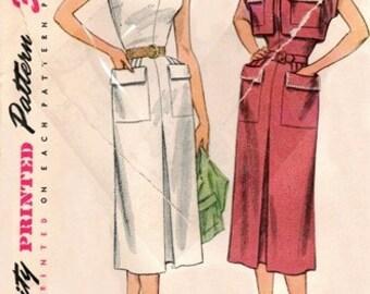 Simplicity 3613 Fine Summer Dress & Bolero / ca. 1951 / SZ16 UNCUT