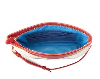 Red, White, and Blue Crossbody Handbag by Yourstoryhandbags.com