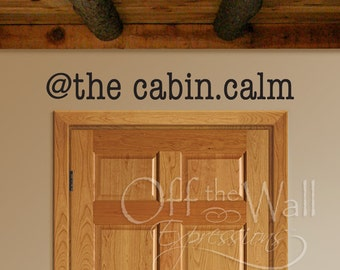 At the cabin.calm vinyl decal wall art decal cabin decor, camping
