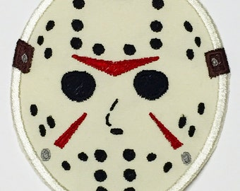 Friday the 13th - Jason Voorhees mask iron-on patch