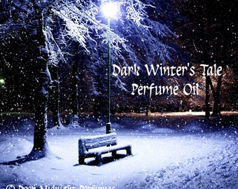 Dark Winter's Tale Perfume Oil - Dark Gingerbread, Rich Vanilla, Molasses, Cardamom - Christmas Perfume - Winter Fragrance