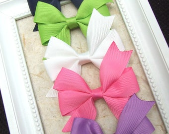 Classic Pinwheel Hair Bows, Hair Clips For Baby, BEST SELLER, Spring Tone Hair Bow Clips, Toddler Girl, Girl Hair Clips, Teen Hair Clips