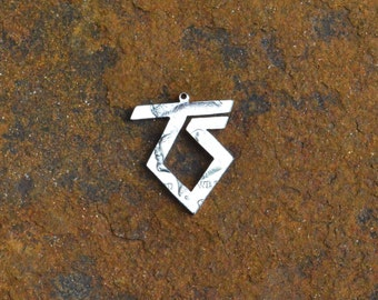Twisted Sister logo hand cut coin, pendant
