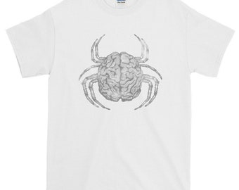 Creepy bug / Brain spider print / Spider monster / Head Crab Short-Sleeve T-Shirt
