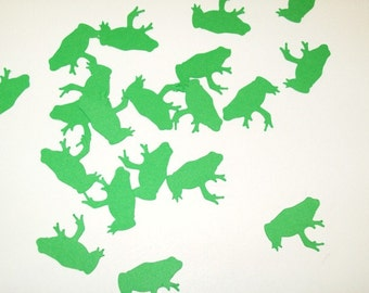 Frog Confetti/ Happy Birthday/ Boy Birthday/ Table Confetti/ Party Supplies/ Birthday/ / 100 Pieces