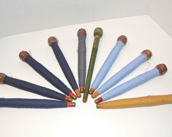 Antique cotton thread spools