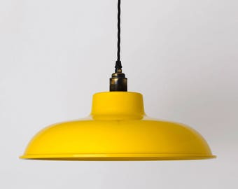 Lena Large Flat Scandi Pendant Lamp