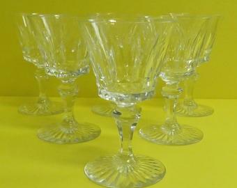 """5 Vintage Baccarat Crystal 4.5"""" 'Sherry Glasses."""
