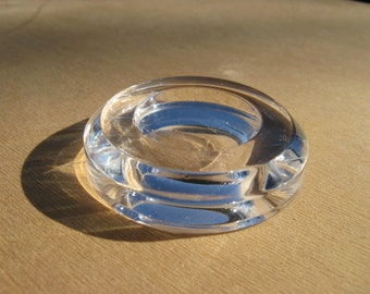 Clear Lucite Egg Stand - 2 inch Circle - for chicken or duck egg
