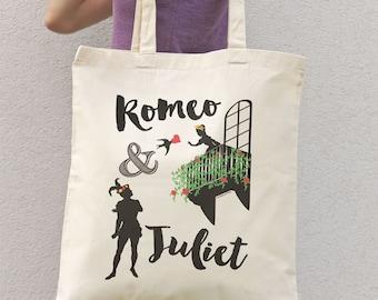 Romeo and Juliet tote bag-Verona Italy bag-love tote bag-shakespear tote-Valentine gift-tote-school bag-valentine tote-NATURA PICTA NPTB054