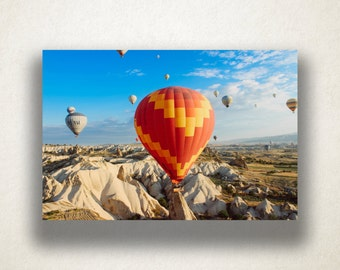 Hot Air Balloons Canvas Art, Hot Air Balloons Wall Art, Balloon Festival Canvas Print, Photograph, Canvas Print, Home Art, Wall Art Canvas