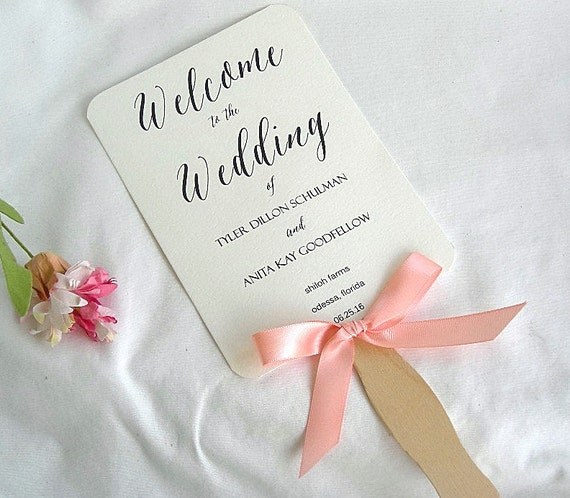wedding program fans wedding fan wedding program fans coral ivory rustic 12386