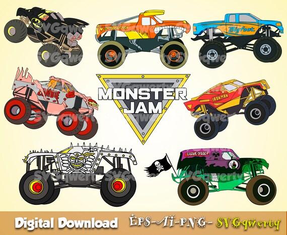 Monster Jam Svg Monster Truck Svg Grave Digger Svg El Toro