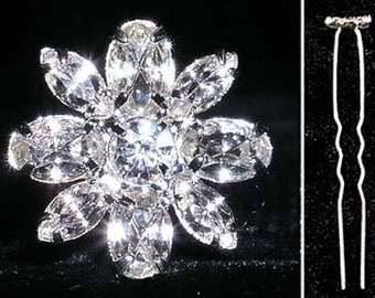 Style # 13880 - Oval and Marquis Cluster Hair Pin