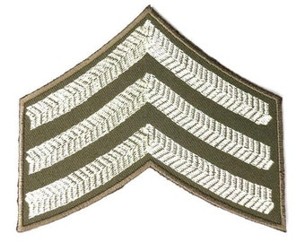 """Army Sgt WW2 British Army Military Embroidered Iron On Patch 4""""x3"""""""