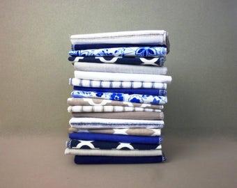 Cloth Napkins Cloth Reusable Paper Towel - Moroccan Tile Cobalt Grey Unpaper Towels Eco Friendly Casual Napkins Quatrefoil Napkin Flannel cb