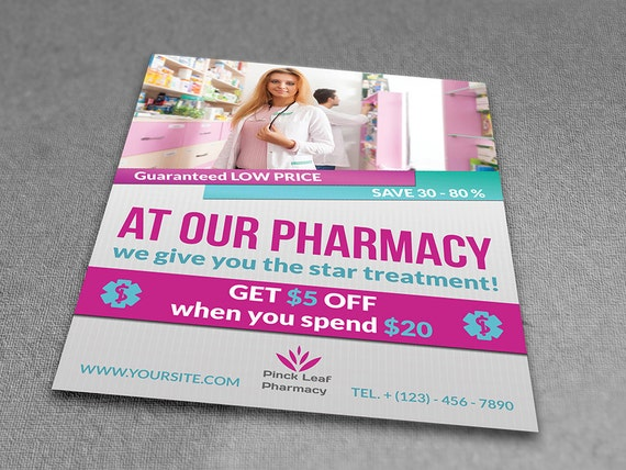 Printable Pharmacy Flyer Flyer Template Flyer Editable Photoshop Template Instant Download