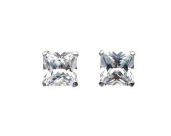 Silver Stud Earrings, Silver Cubic Zirconia, Cubic Zirconia Studs, Cubic Zirconia, CZ Earrings, CZ Stud Earrings, Silver Earrings, CZ Studs