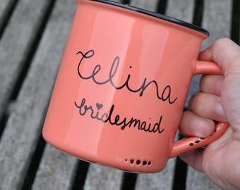 Will you be my bridesmaid mug bridesmaid gift bridesmaid proposal maid of honor gift bridal party gift coffee mug wedding mug gift set