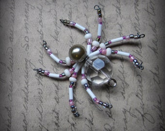 Crystal Beaded Spider  Suncatcher Ornament