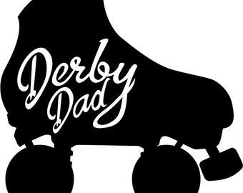 Derby Dad, Roller Derby Vinyl Decal