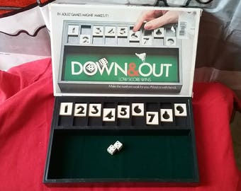Vintage Down & Out Dice Game 1979 Magniff