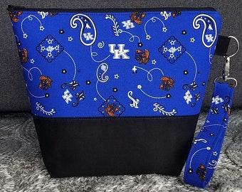 University of Kentucky Medium Project Bag; Knitting Bag; Crochet Bag