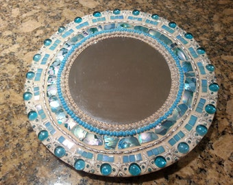 Ocean theme mosaic mirror