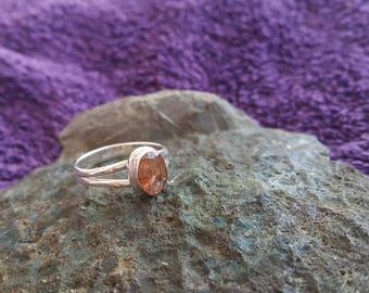 Sun Stone Ring Handmade & Silver