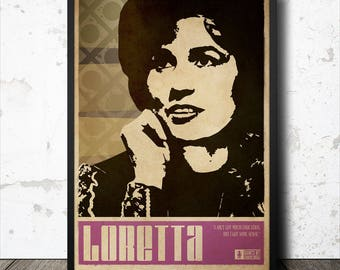 Loretta Lynn Country Music Poster