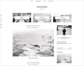 Isadora | Responsive Blogger Template + Free Installation