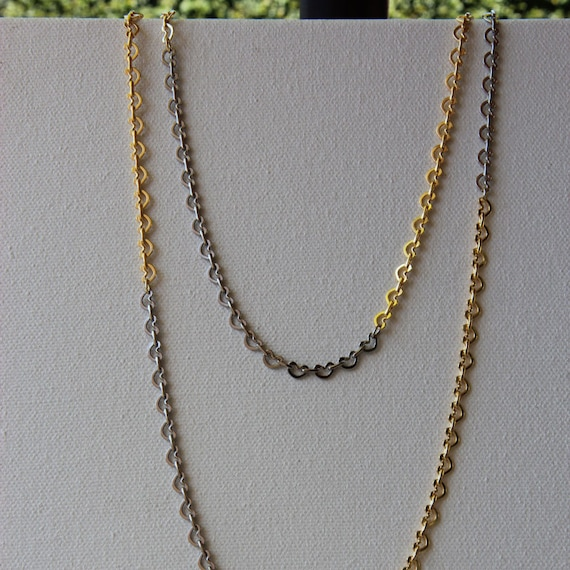 Remember Me Necklace - gold- and silver-plated kidney chain, color blocked