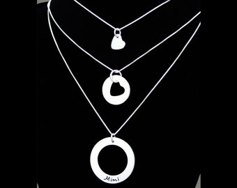 I Carry Your Heart (Mother, Daughter & Grandmother Necklaces) - Three Generations - Mother's Day Gift - Mother Daughter Gift