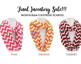 Monogram Chevron Infinity Scarf, Monogram Chevron Infinity Scarves, Personalized Scarves, Personalized Monogram Scarf