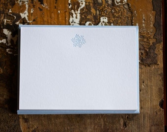 Letterpress Snowflake Note Cards