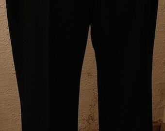 BLACK elegant womens pants,for growth 164/170 Size LARGE L (42), vintage