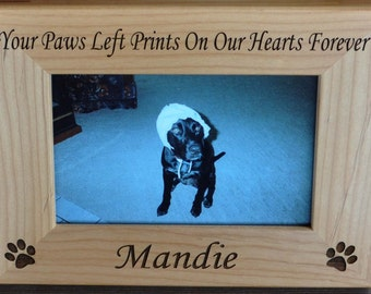 Pet Loss Gift ~ Dog Frame ~Personalized Pet Frame ~ Loss of Pet Frame ~ Engraved Pet Frame ~ Pet Loss ~ Gift For Pet Loss ~ Pet Loss Gift ~