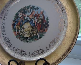 Victorian Plate Gold Trim Vintage