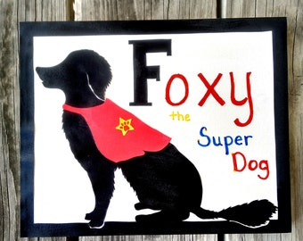 Pet Silhouette, Dog silhouette, Cat silhouette, Wonderful gift for pet lovers, 8x10