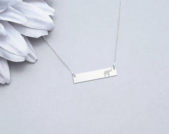 Elephant Necklace, Animal Necklace, Friendship Necklace, Elephant Jewelry, Animal Lover Gift, Elephant Charm, Custom Jewelry