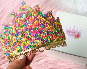 NEW Confetti Candy SPRINKLES lace tiara || fits all ages {toddler-adults}