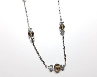 Long Chain and Bead Necklace