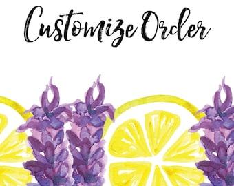 Customize my order