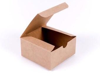 25 Kraft Gift Boxes 4x4x2