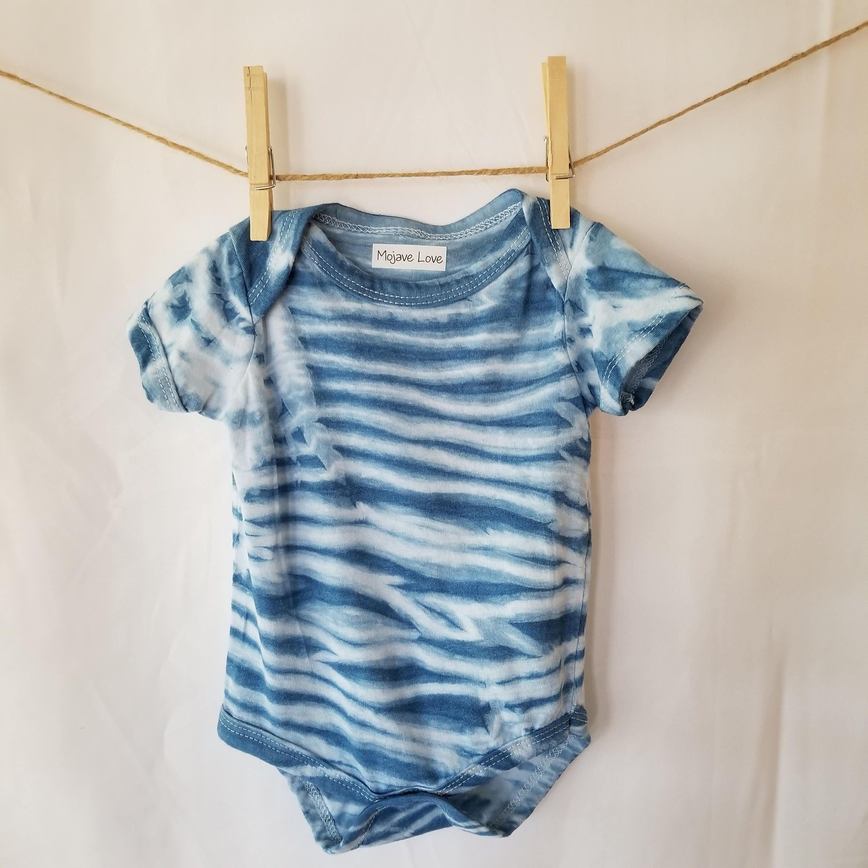 Baby Romper Hand dyed Shibori Indigo Tie Dye e piece