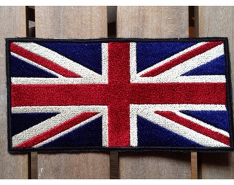 Very large patch fusible Union Jack flag English 25 cm