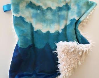 Watercolor Clouds Blanket