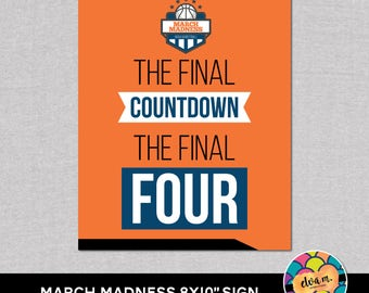 "March Madness 8x10"" Party Sign. Basketball Party Straw Flags.  *DIGITAL DOWNLOAD*"