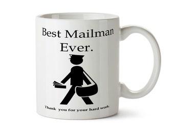 Mail Carrier Gift, Mail Carrier Mug, Best Mailman Ever, Postman Gift,  USPS Christmas Mug, Personalized Mug, Mailman Gift Postal Worker Gift