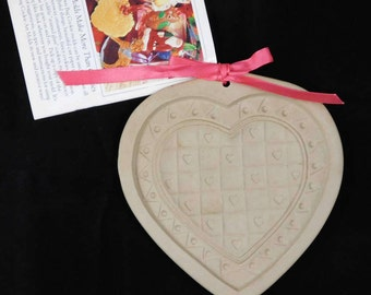 Heart Shaped Cookie Mold, Brown Bag Cookie Art, Tiny Heart, Basket Weave
